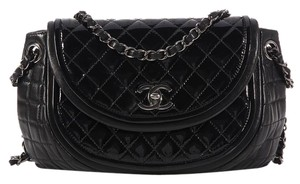 Chanel Cc Quilted Ch.k0526.11 Patent Shoulder Bag