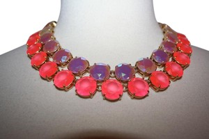 J.Crew J.CREW LAYERED CRYSTAL NECKLACE NEON HIBISCUS