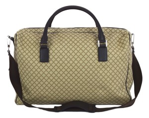 Gucci Travel Duffle Unisex Luggage 196356 Light Brown Travel Bag