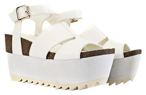 Privileged White Sandals
