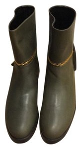 Pierre Hardy Leather Green Boots