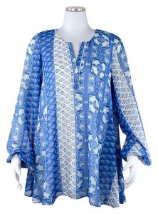 Show Me Your Mumu short dress Tunic Boho Flowy Shift Chiffon on Tradesy