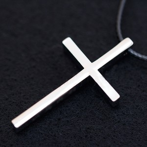 Silver/Black Bogo Free Stainless Cross Free Shipping Necklace