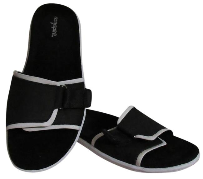 Item - Black with White Trim Leather Nwob. Mules/Slides Size US 9 Regular (M, B)