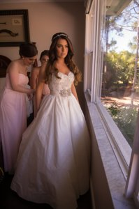 Anne Barge Antoinett Strapless Ball Gown Wedding Dress