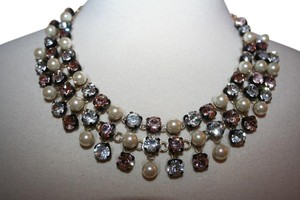 J.Crew J.CREW CRYSTAL AND PEARL STUDDED SWING NECKLACE F0858