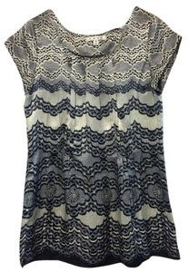 CAbi Silk Casual Party Top Blue