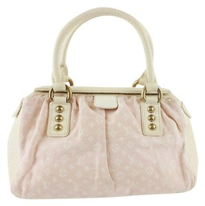 Louis Vuitton Mini Trapeze Satchel in Pastel Pink and Ivory