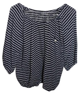 J.Crew Stripped Blue Top Navy