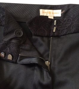 Tory Burch Silk Capri/Cropped Pants Black