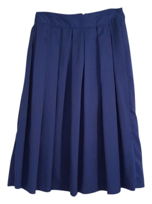 Item - Blue Pleated Midi Skirt Size 4 (S, 27)