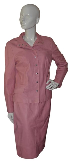 Item - Pink Leather Skirt Suit Size 10 (M)