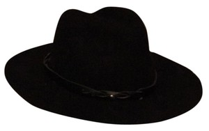 BP. Clothing BP Leather trim felt black hat