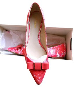 Coach Ballet 2016 Pointed Toe Pink/Red/White Flats