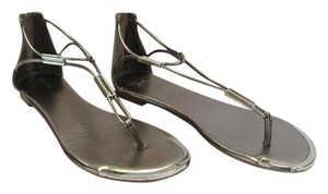 Mossimo Supply Co. Size 9.50 M Good Condition Bronze, Silver Sandals