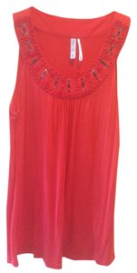 Kische Modal Embellished Top Dark Orange