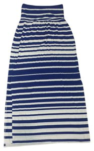 Athleta Maxi Skirt Blue and white stripe