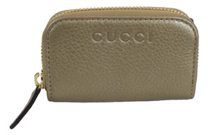 Gucci Gucci Gg Guccissima Mini Zip Around Coin Wallet Gold 324801