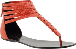 Elizabeth and James Orange / Coral Sandals