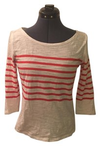 Forever 21 Sailer Striped 3/4 Sleeve 3/4 Sleeve T Shirt