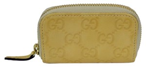 Gucci Gucci Gg Guccissima Mini Zip Around Coin Wallet Yellow 324801