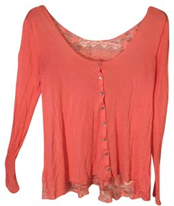 Free People T Shirt Coral pink