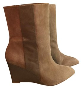Zara Tan Suede/Leather Boots
