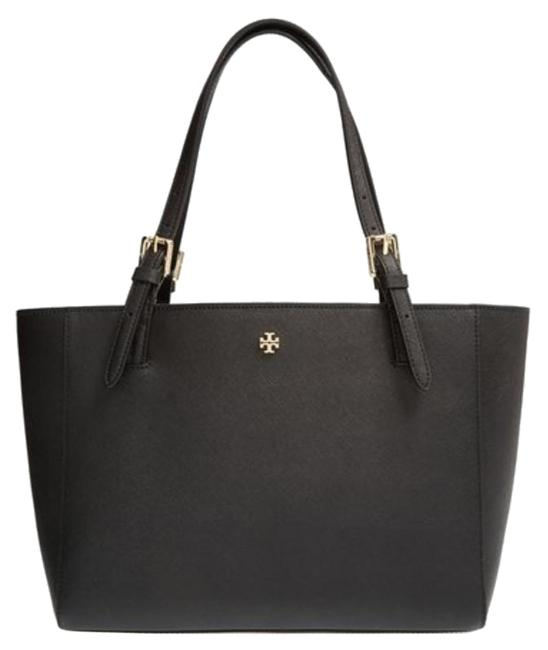 Item - York Buckle Small Black Leather Tote