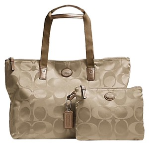 Coach Weekender Nylon Signature Khaki Travel Bag
