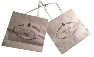 Prada 2 Authentic Prada paper shopping bags + receipt portfolio