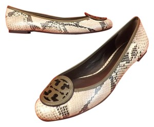 Tory Burch Natural Pyton Flats