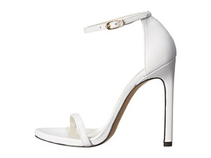 Stuart Weitzman Nudist Celebrities Sale Clearance Napa white Sandals