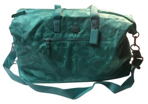 Coach Signature Getaway Duffle Duffle Nylon Tote Aqua Travel Bag