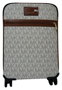 Michael Kors Trolley Rolling Carry-on Suitcase Swirvel Wheels Signature Vanilla Travel Bag