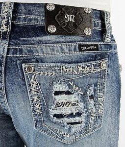 Miss Me The Buckle Boot Cut Jeans-Medium Wash