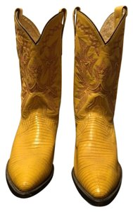 Dan Post Boots Cowboy Lizard Yellow Boots