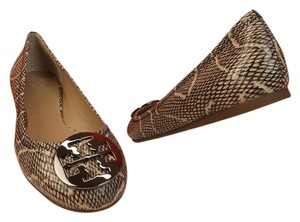 Tory Burch Natural Cobra Flats