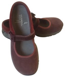 Merrell Suede Leather Casual Comfott Burgundy Mules