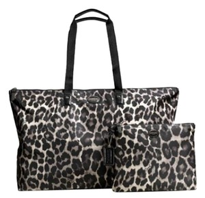 Coach Signature Packable Tote Black Multi Travel Bag