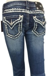Miss Me Rock Revival Skinny Jeans-Medium Wash