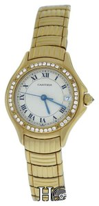 Cartier Authentic Ladies Cartier Panthere Cougar 11711 18K Yellow Gold 26mm Quartz Watch