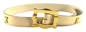 Paloma Picasso Vintage Cream Leather Paloma Picasso Belt
