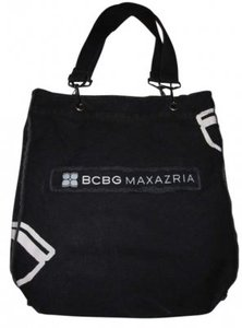 BCBGMAXAZRIA Tote in Black with white
