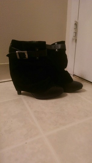 Wet Seal Black Boots