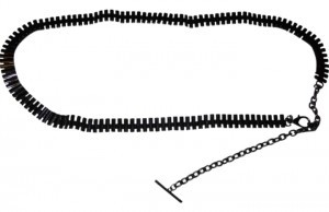 Express Express Dark Colored Metal Chain Belt 34