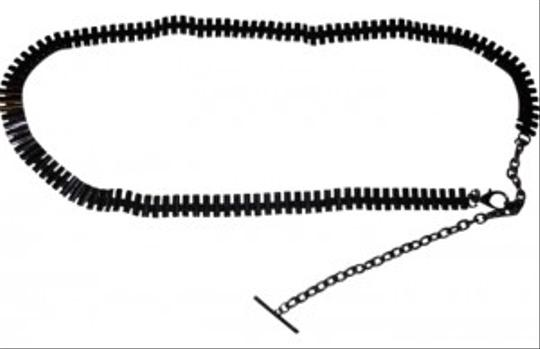 "Express Express Dark Colored Metal Chain Belt 34""long with 9.5"" extender"