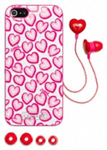 Coach COACH~Sig Heart Print iPhone 5 Case Cover & Earbud Boxed Set~68616