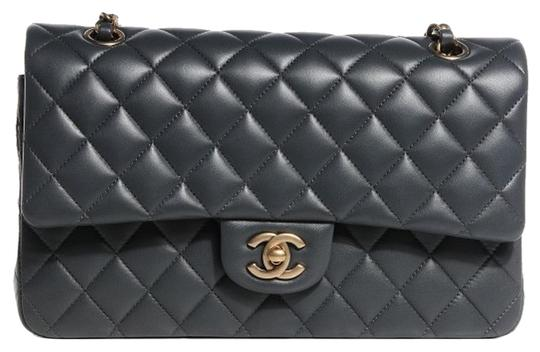 Preload https://item4.tradesy.com/images/chanel-255-reissue-classic-double-flap-quilted-charcoal-medium-ml-a01112-grey-gray-lambskin-leather--16931113-0-12.jpg?width=440&height=440