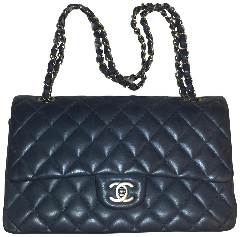 551a7df45fbd Chanel 2.55 Reissue Double Flap L Classic Quilted Charcoal Medium M/L  A01112 Grey Gray Lambskin Leather Shoulder Bag - Tradesy