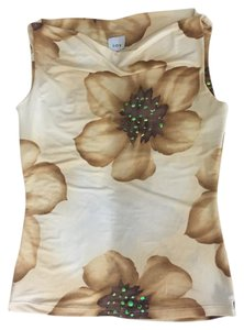 Say What? Floral Flower Yellow Sleeveless Top